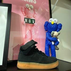 Nike Air Force 1 high top black suede